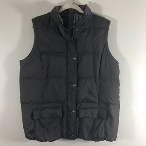 GAP maternity brown / gray puffer vest XL